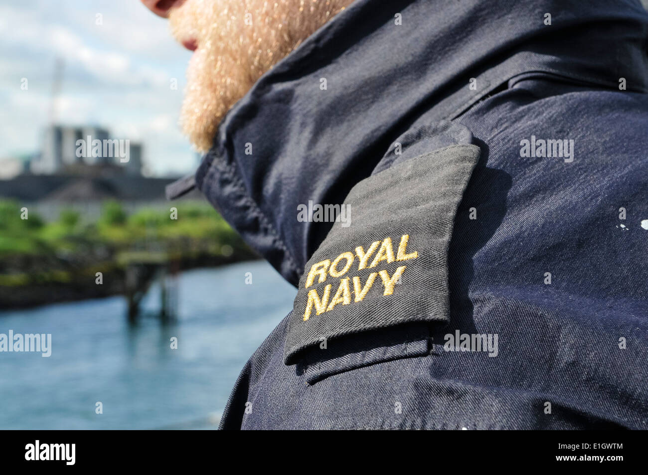 Epaulettes of a Royal Navy sailor - Stock Image