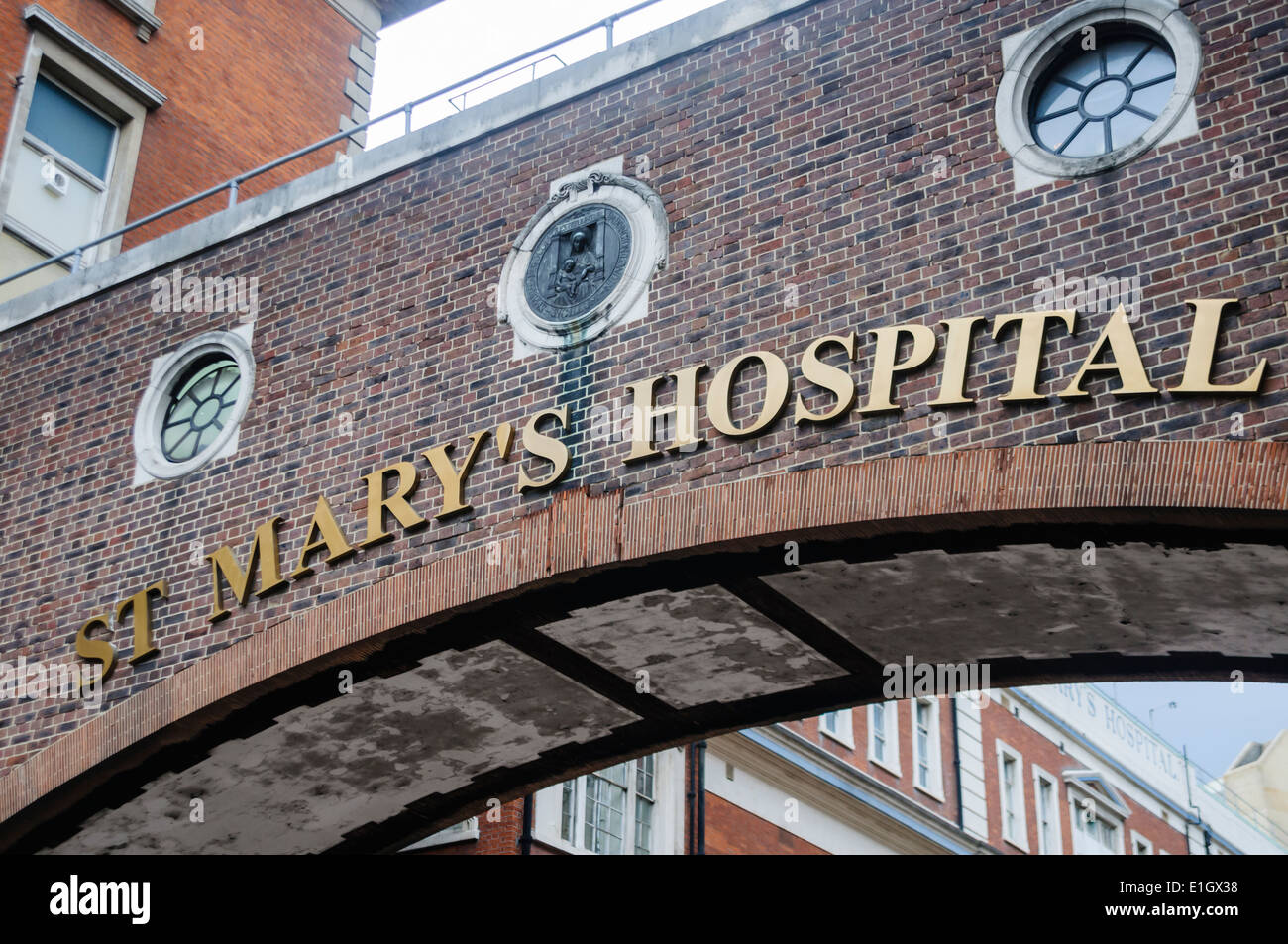 St. Mary's Hospital, London - Stock Image
