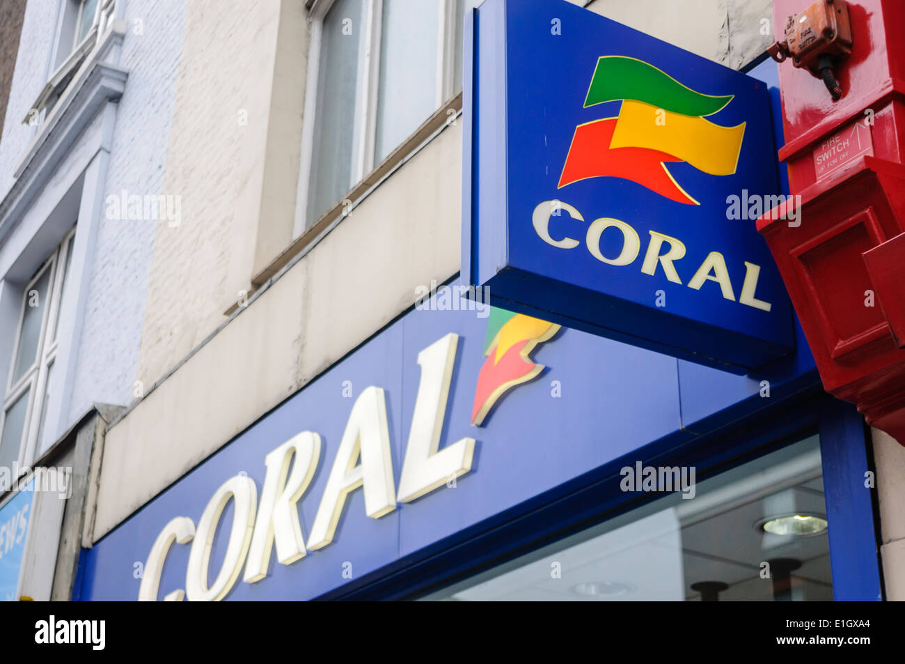 Coral bookmakers - Stock Image