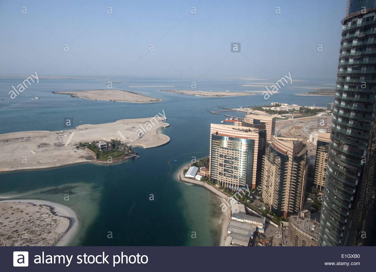 View of Abu Dhabi, United Arab Emirates - Stock Image