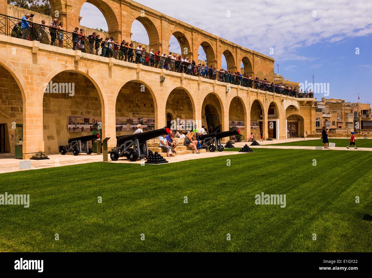 The Saluting Battery, Valletta, Malta. - Stock Image