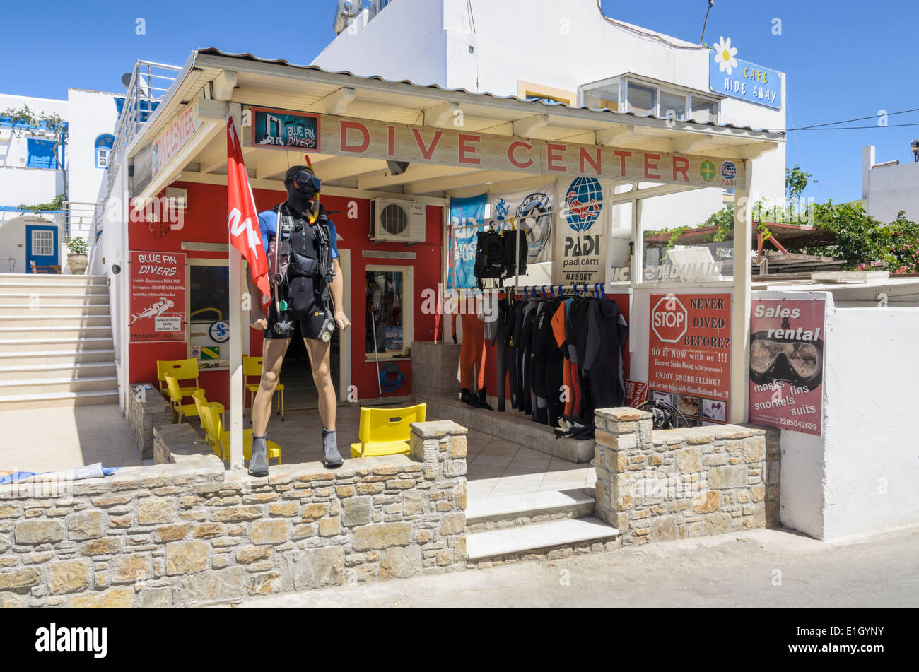 Dive center shop in the beachside resort of agios for The dive shop