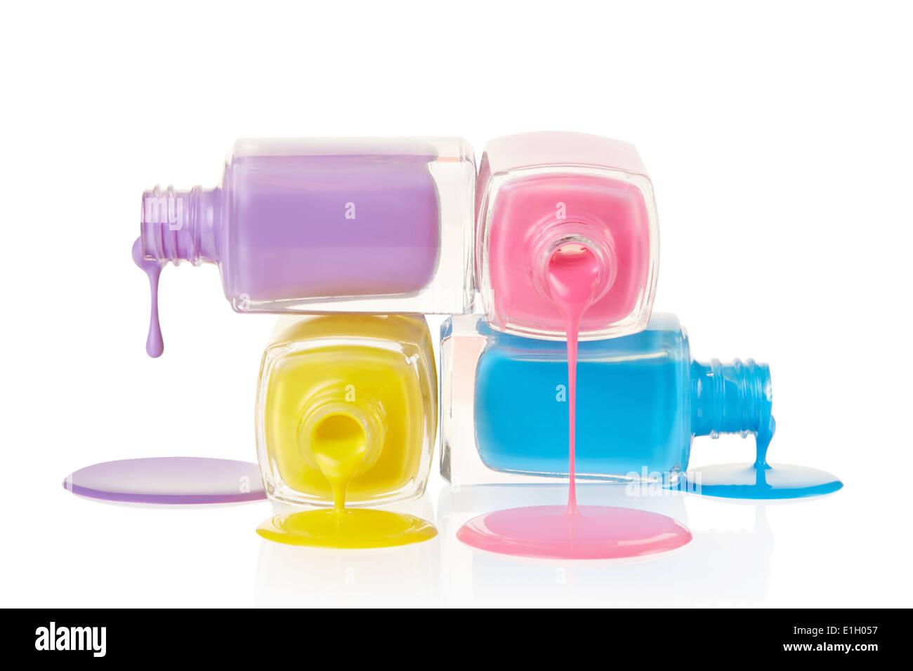 Nail polish stack spilled Stock Photo: 69829459 - Alamy