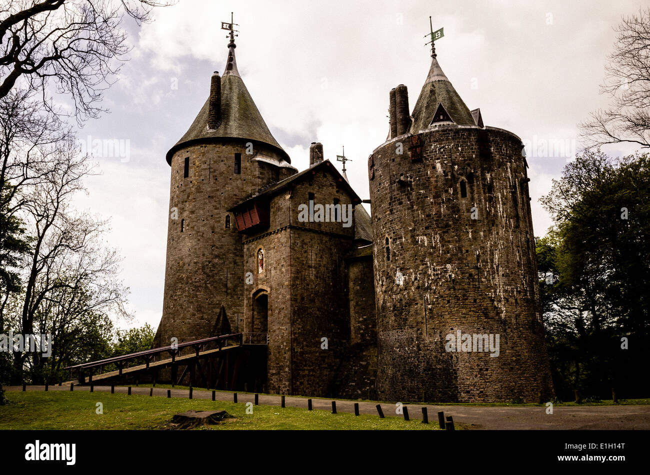 Castell Coch Or The Red Castle Is A 19th Century Gothic Revival Built On Remains Of Genuine 13th Fort