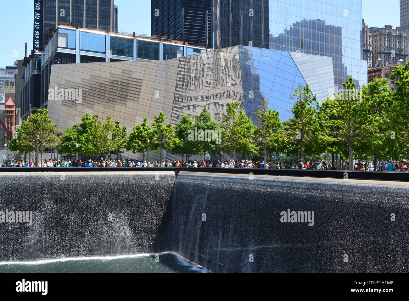 National 9/11 Memorial and Museum at Ground Zero in Lower Manhattan. - Stock Image