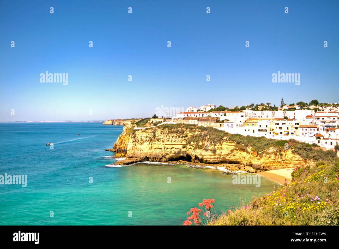 Carvoeiro in the Algarve Portugal Stock Photo