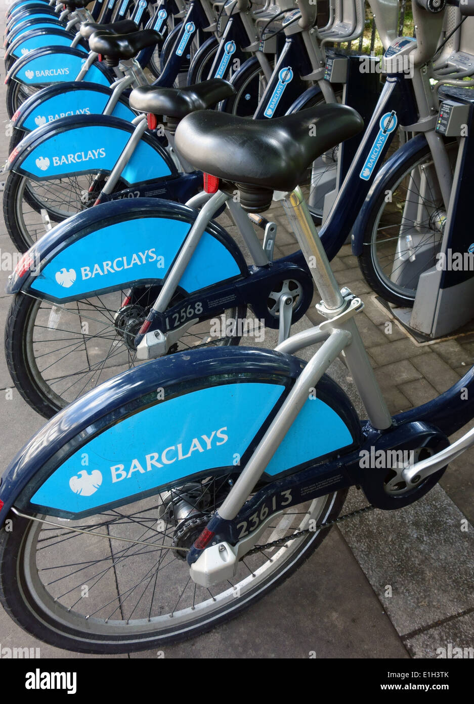 Barclays sponsorship of London hire bikes ends in Summer 2015 - Stock Image