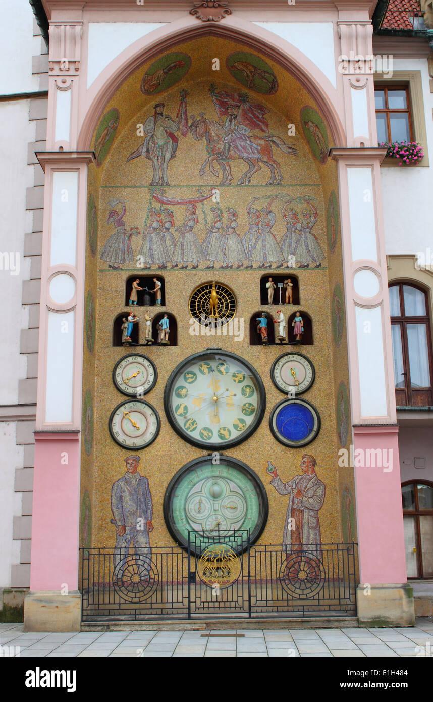 Astronomical clock of Olomouc, Czech Republic - Stock Image
