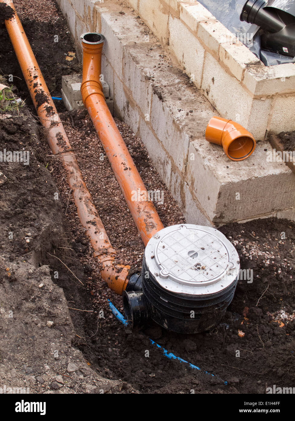 Self building house drainage drain pipe connection to for One pipe drainage system