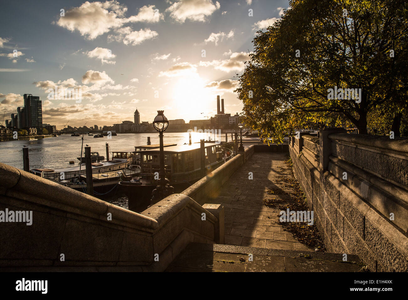 Chelsea Embankment London High Resolution Stock Photography And Images Alamy