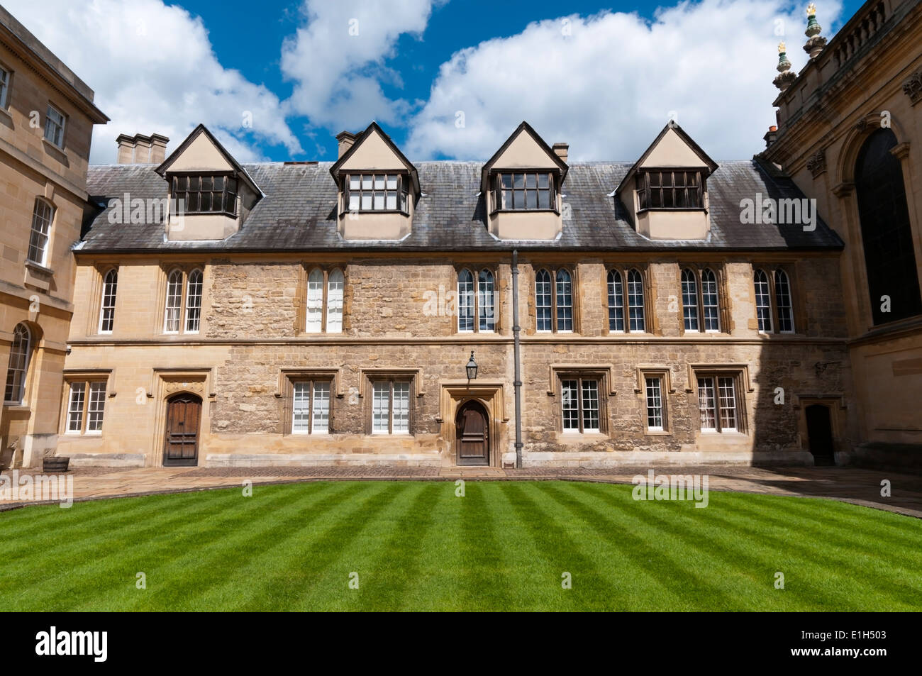 The Old Library in Durham Quadrangle, Trinity College, Oxford. - Stock Image