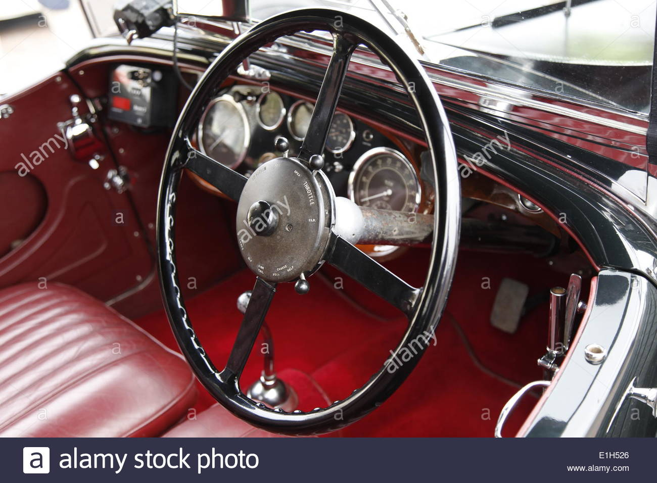 bentley classic car interior stock photos bentley. Black Bedroom Furniture Sets. Home Design Ideas
