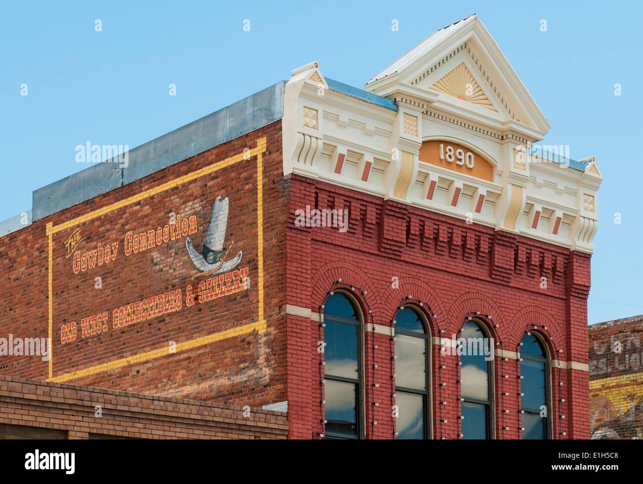 Montana, Livingston, Downtown, historic 1890 building Stock Photo