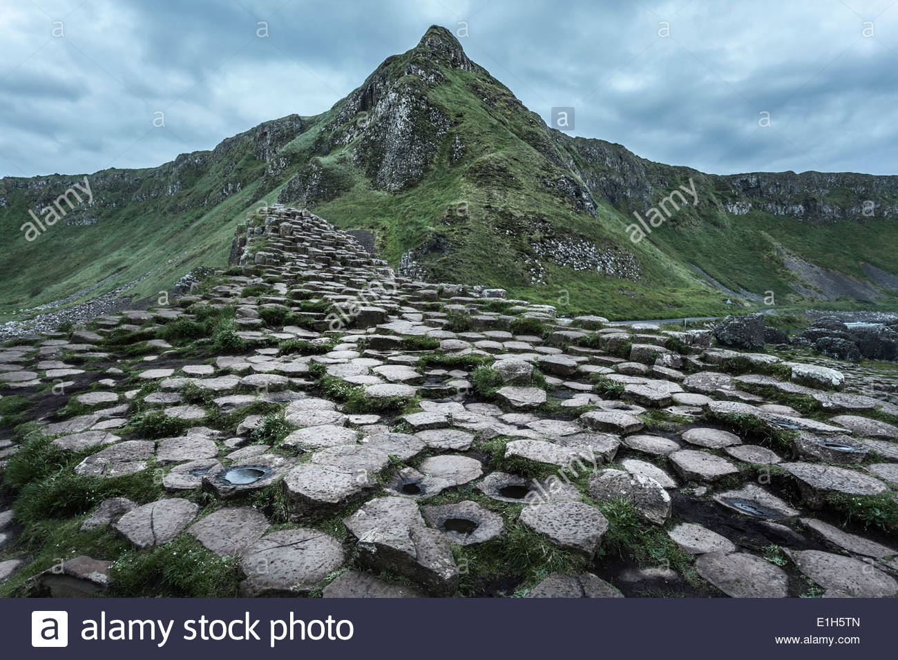 Giants Causeway, Bushmills, County Antrim, Northern Ireland, UK - Stock Image