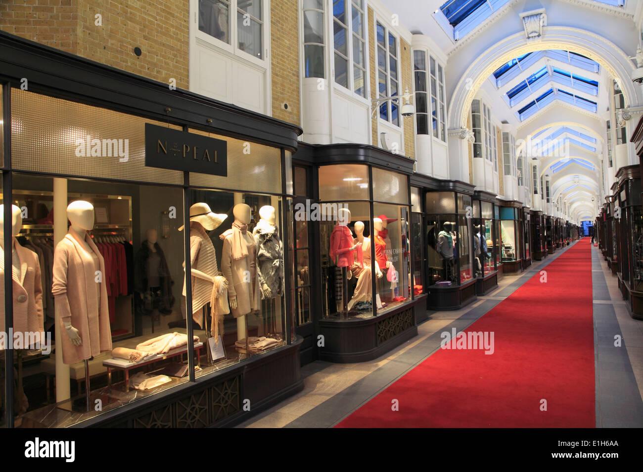 UK, England, London, Burlington Arcade, shops, - Stock Image
