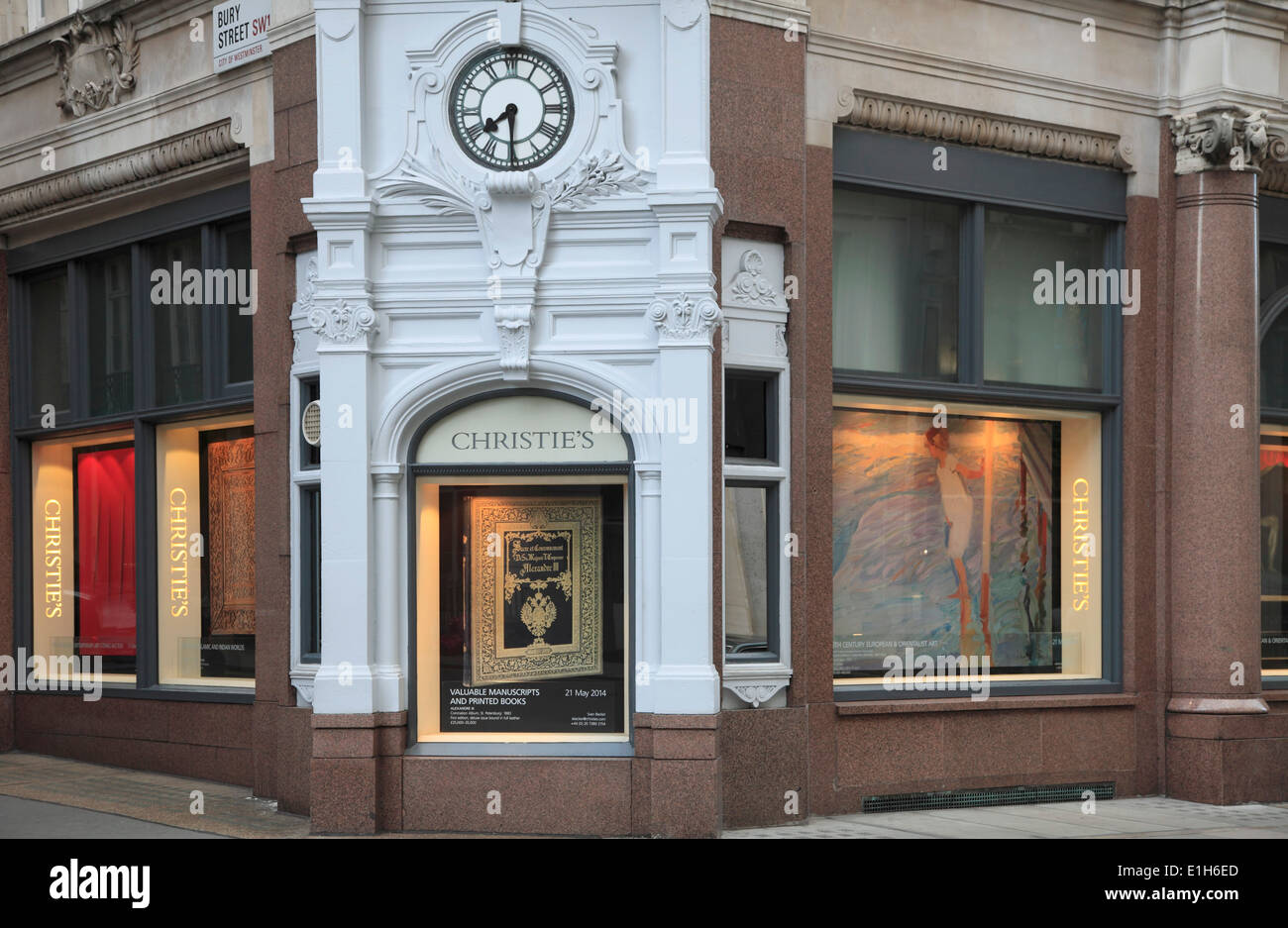 UK, England, London, Christie's store, - Stock Image