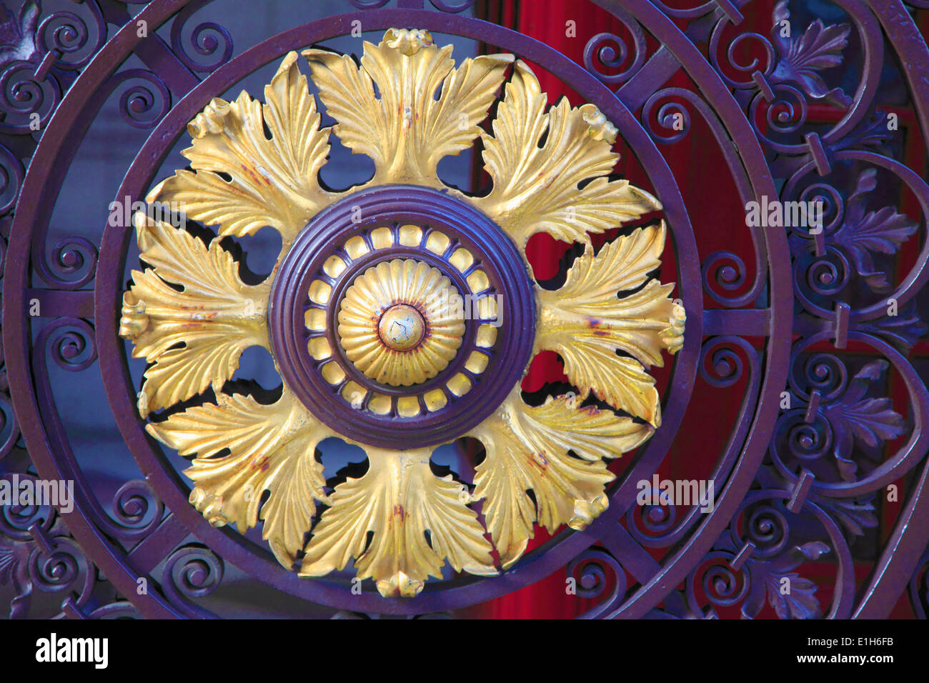UK, England, London, Picadilly, Burlington House, door, - Stock Image