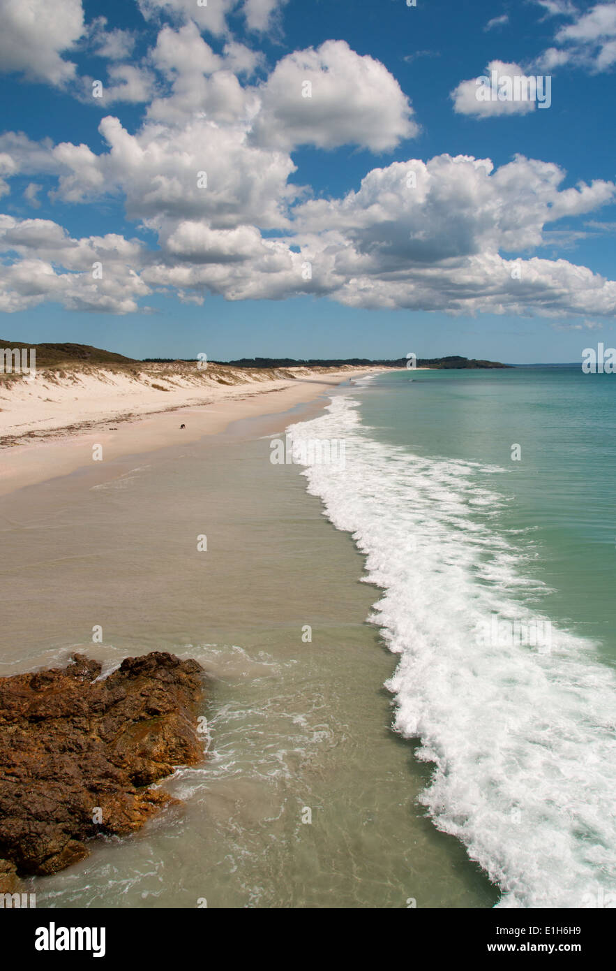 Kariikari beach in the Far North, North Island New Zealand - Stock Image
