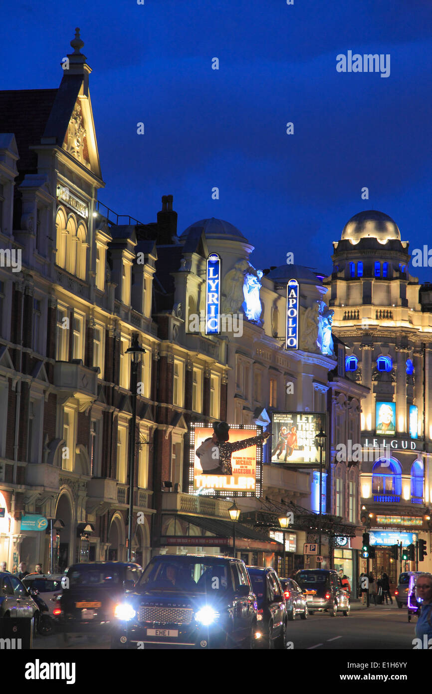 UK, England, London, Theatre District, Shaftesbury Avenue, - Stock Image