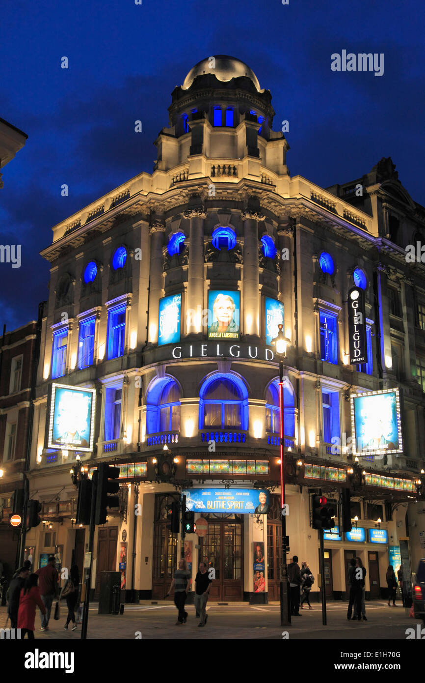 UK, England, London, Gielgud Theatre, Shaftesbury Avenue, - Stock Image