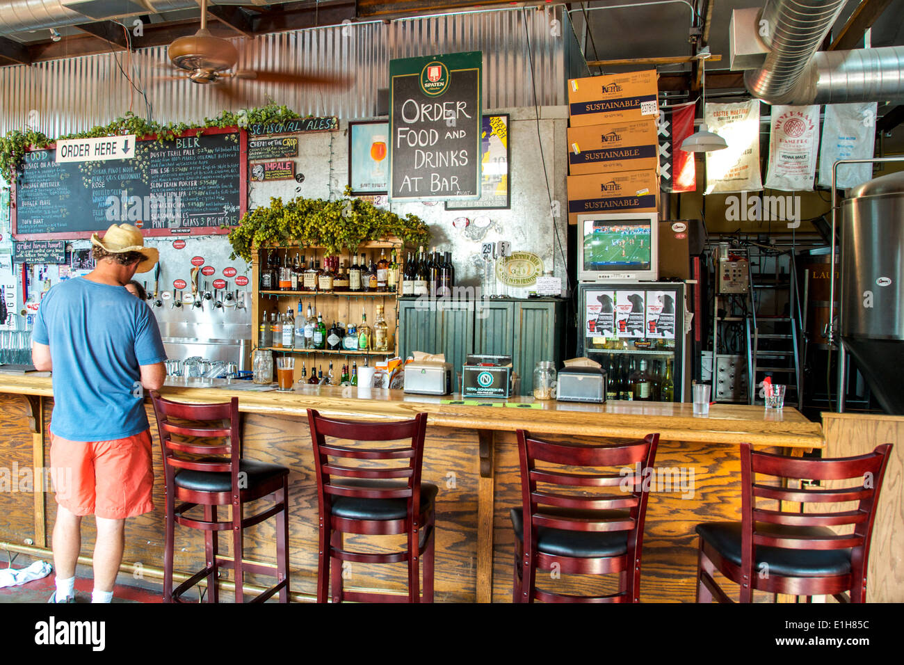 Micro brewery Portland Oregon USA - Stock Image