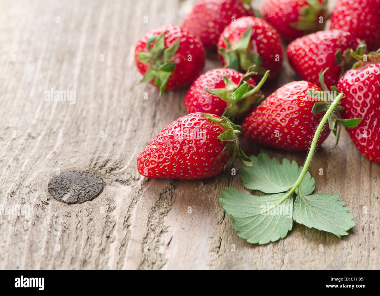 Fresh strawberries - Stock Image