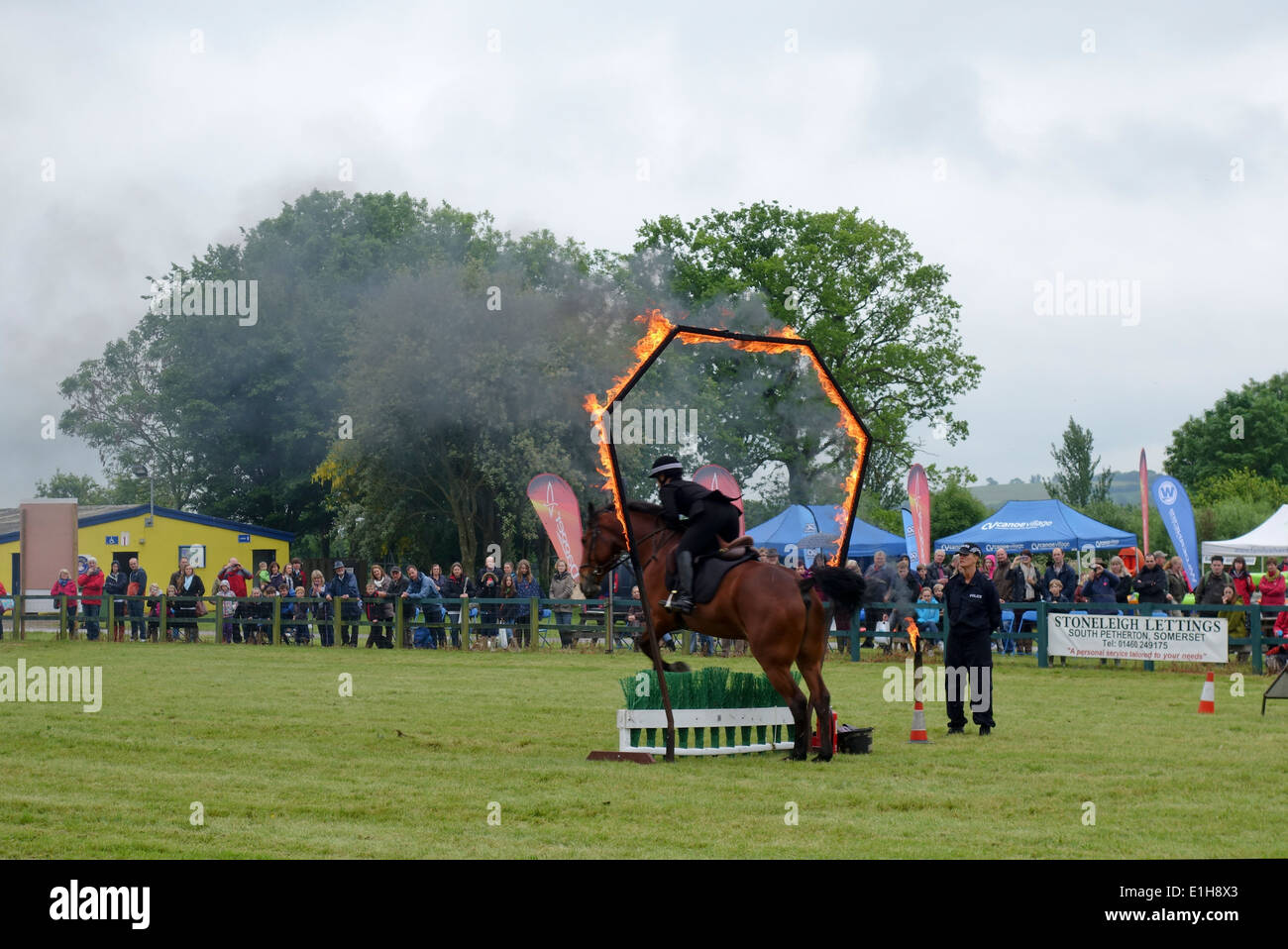 Mounted Section of the Avon & Somerset Police at The Bath & West Show 2014 - Stock Image