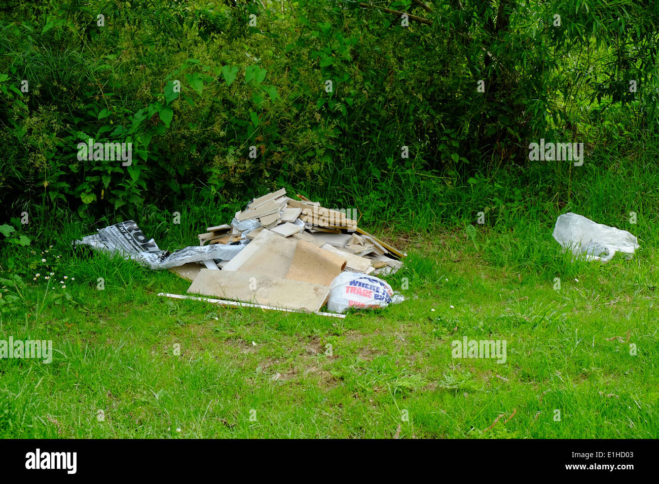 Fly tipping in Milton Keynes - Stock Image