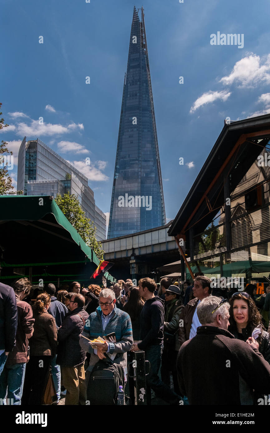The Shard viewed from Borough street Market - Stock Image