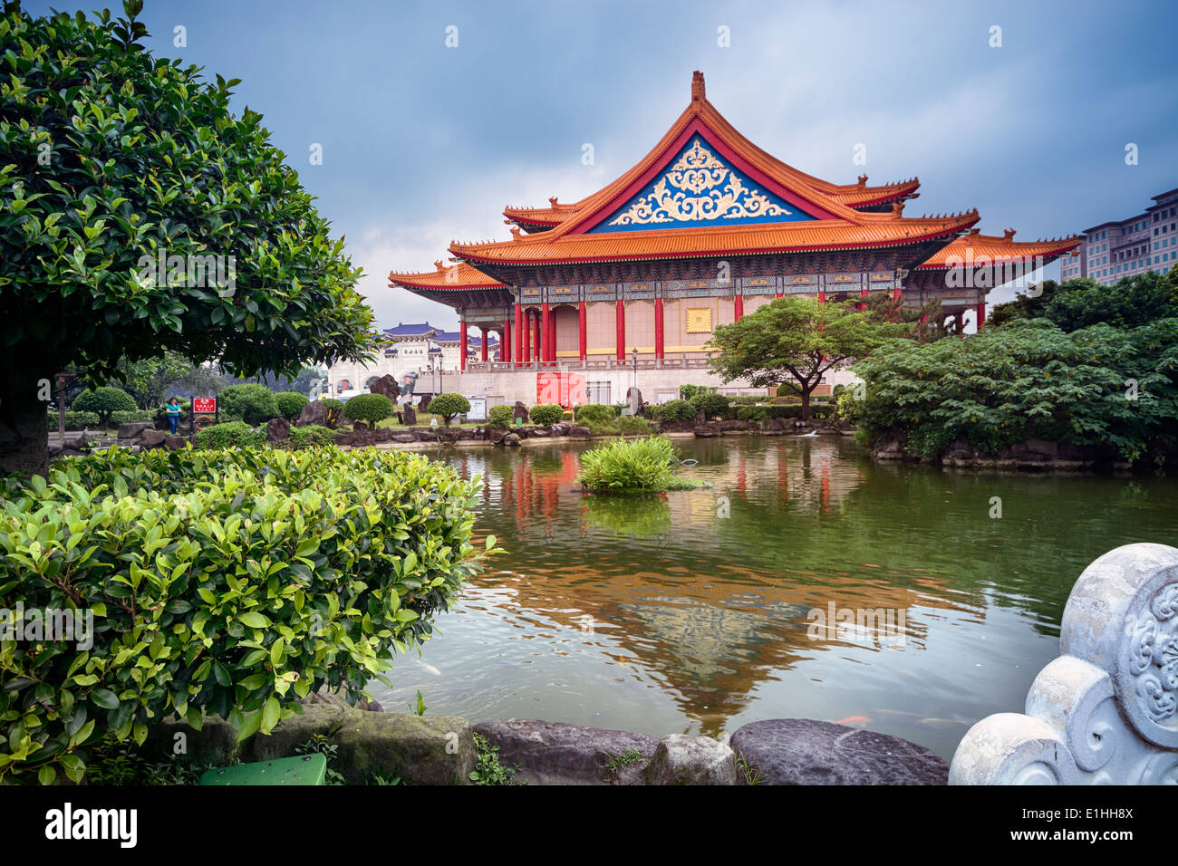 National Concert Hall at the Liberty Square in Taipei - Taiwan. - Stock Image