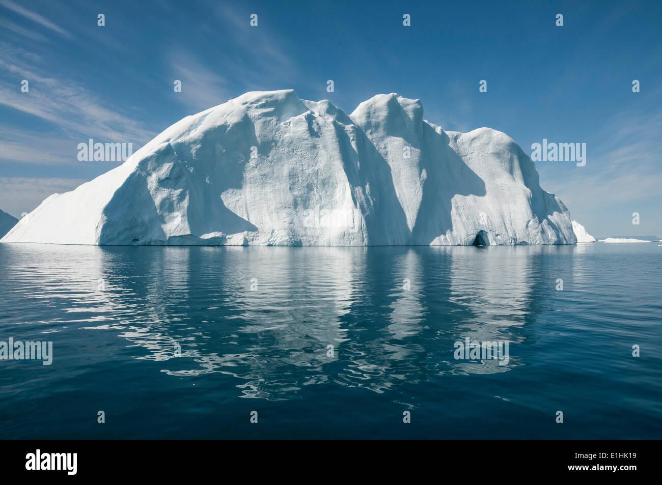 Iceberg, Disko Bay, West Greenland, Greenland - Stock Image