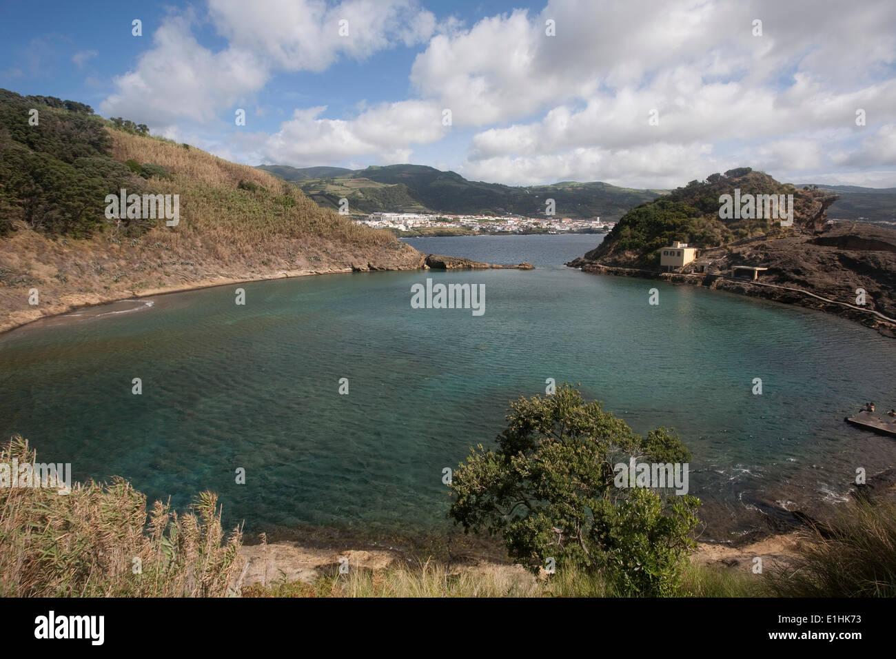 Lagoon, Ilhéu de Vila Franca do Campo, São Miguel, Azores, Portugal - Stock Image