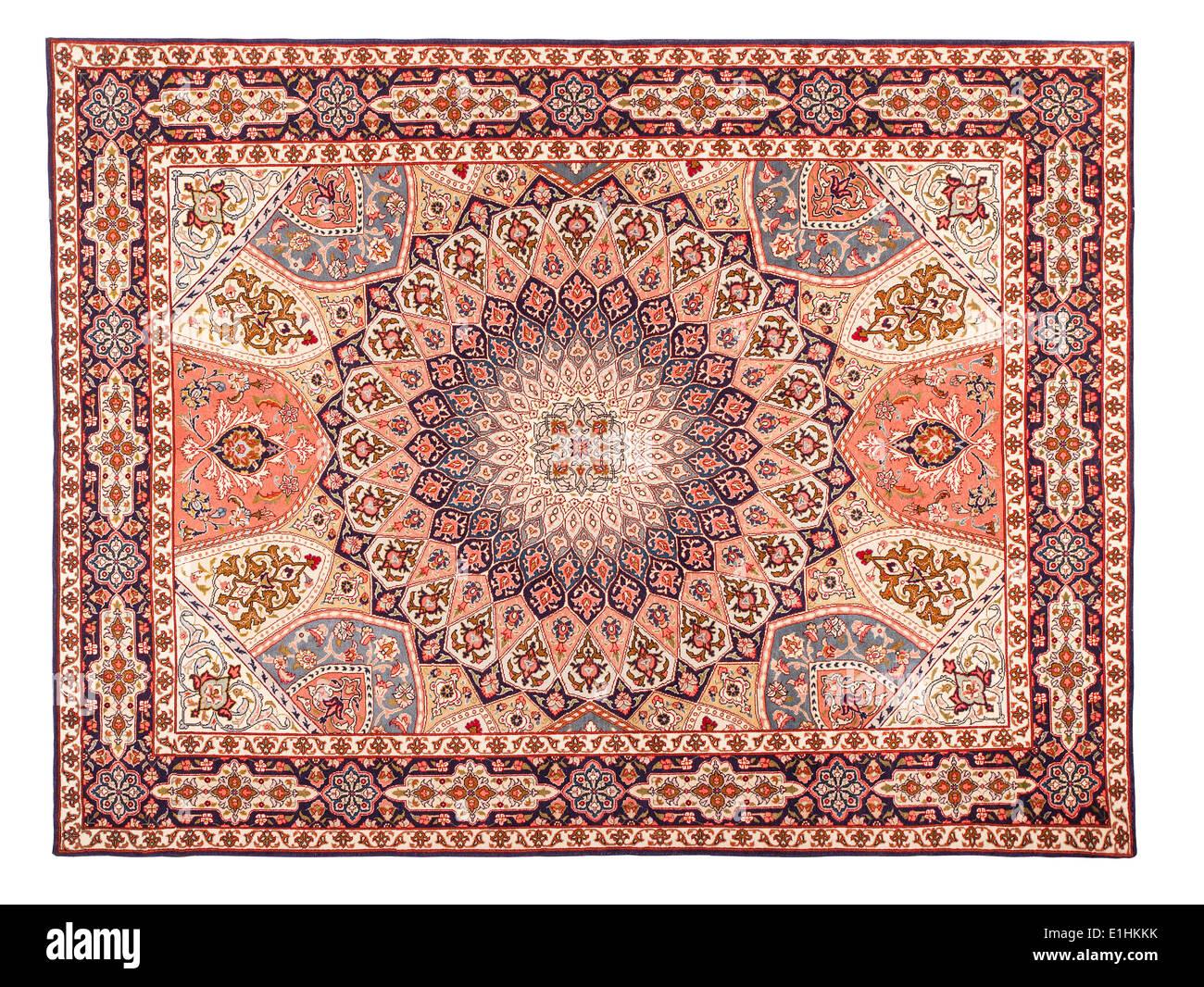 Asian Carpet Texture. Classic Arabic Pattern - Stock Image
