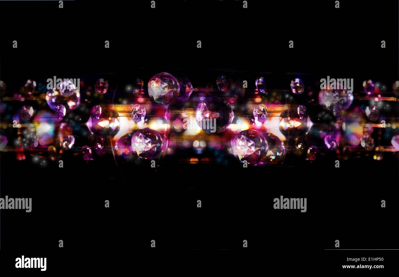 Magic bubbles - disco bright lights art backgrounds - Stock Image