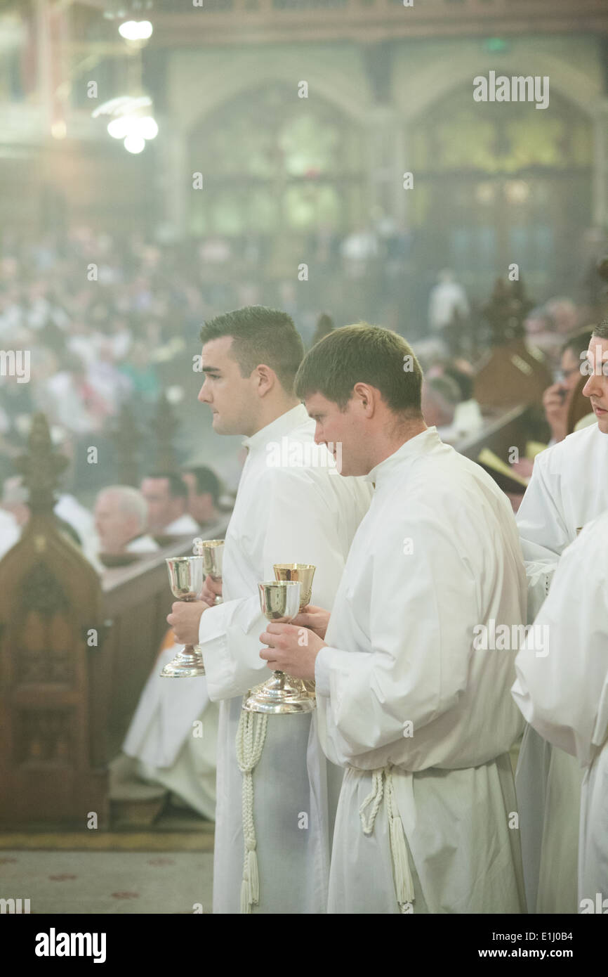 Maynooth College,Maynooth,Ireland,1st June 2014,15 Seminarians were ordained to the Deaconate in Maynooth College on 1st June. - Stock Image