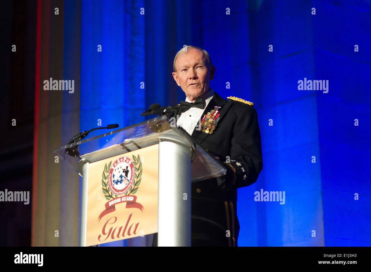 U.S. Army Gen. Martin E. Dempsey, the chairman of the Joint Chiefs of Staff, gives the keynote address during the 2013 Tragedy - Stock Image