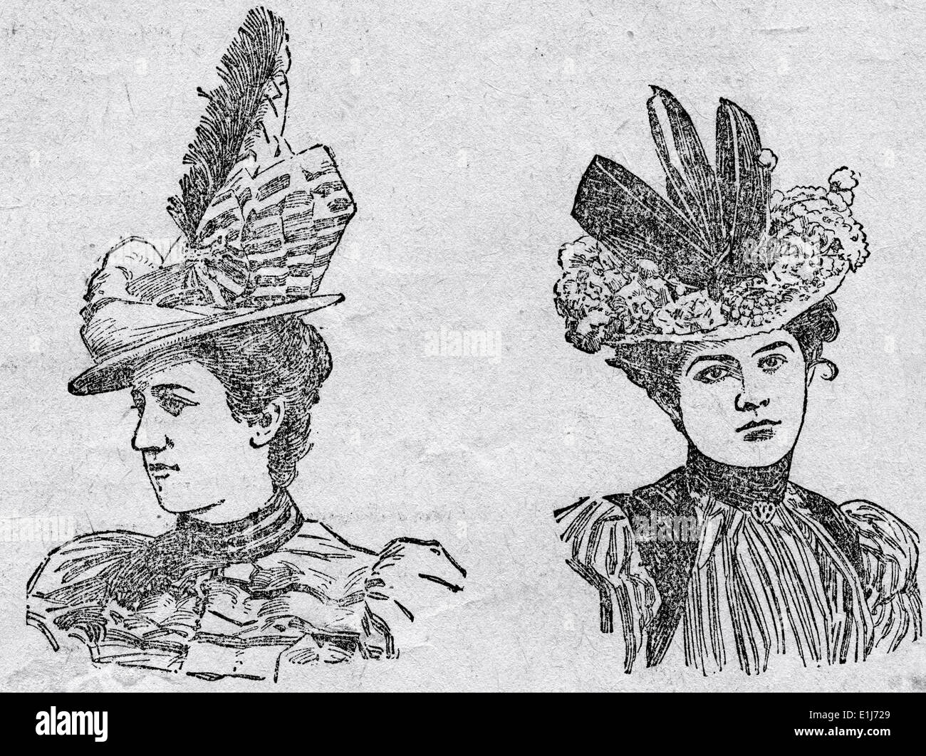 17 MAY 1898 -The Evening Gazette '300 new trimmed hats are ready for your inspection' in the Millinery Department.' - Stock Image