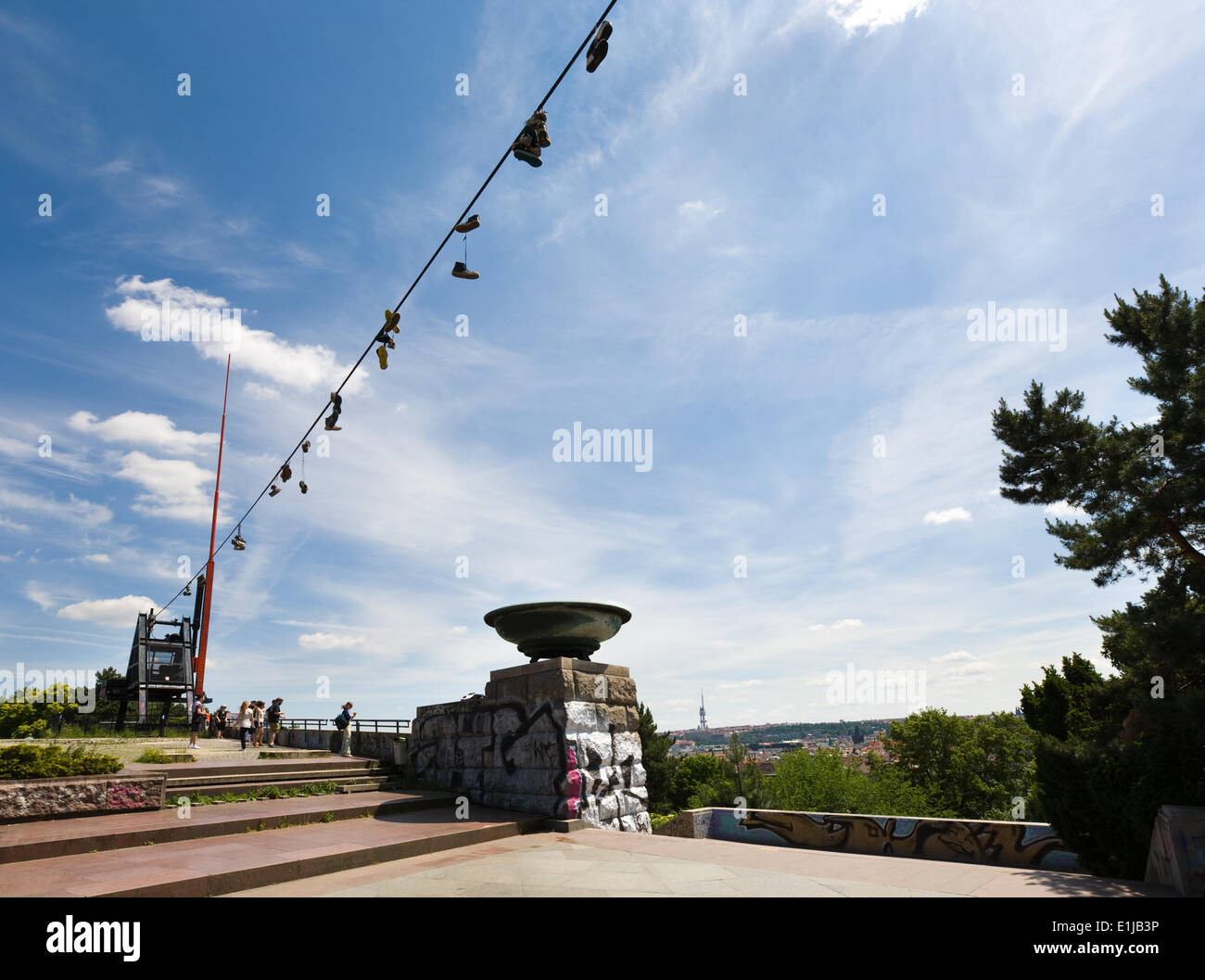 The Metronome, Prague, Czech Republic - Stock Image