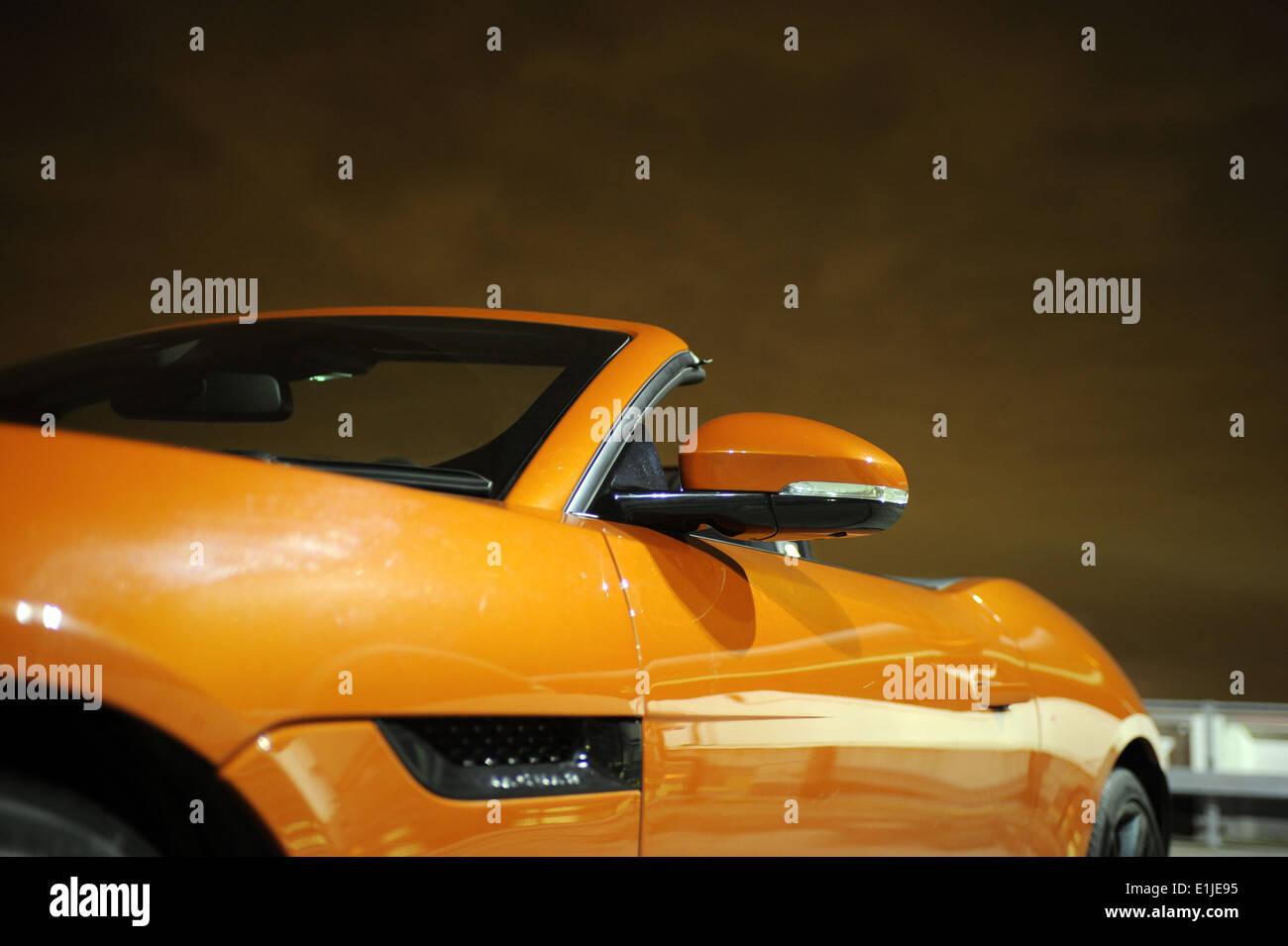 Jaguar F Type V6s Night Shot Roof Top Stock Photo 69862497 Alamy