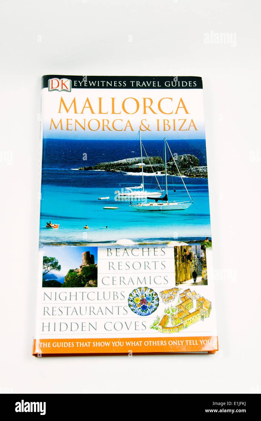 Travel guide book to Mallorca, Menorca and Ibiza, Balearics, Spain.