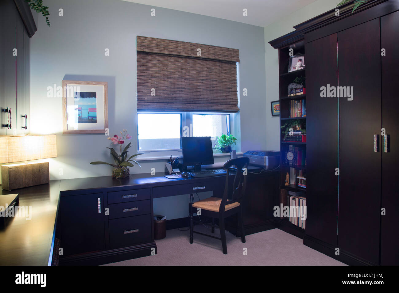 tidy office. Neat And Tidy Home Office Interior, Residential House, USA, R
