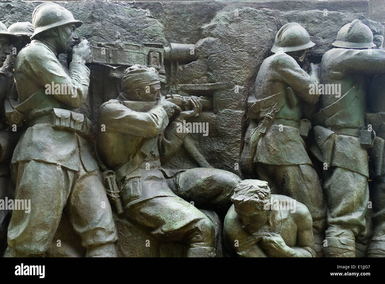 Turin, Italy : the monument at the carabineer. Particular WWI. - Stock Image