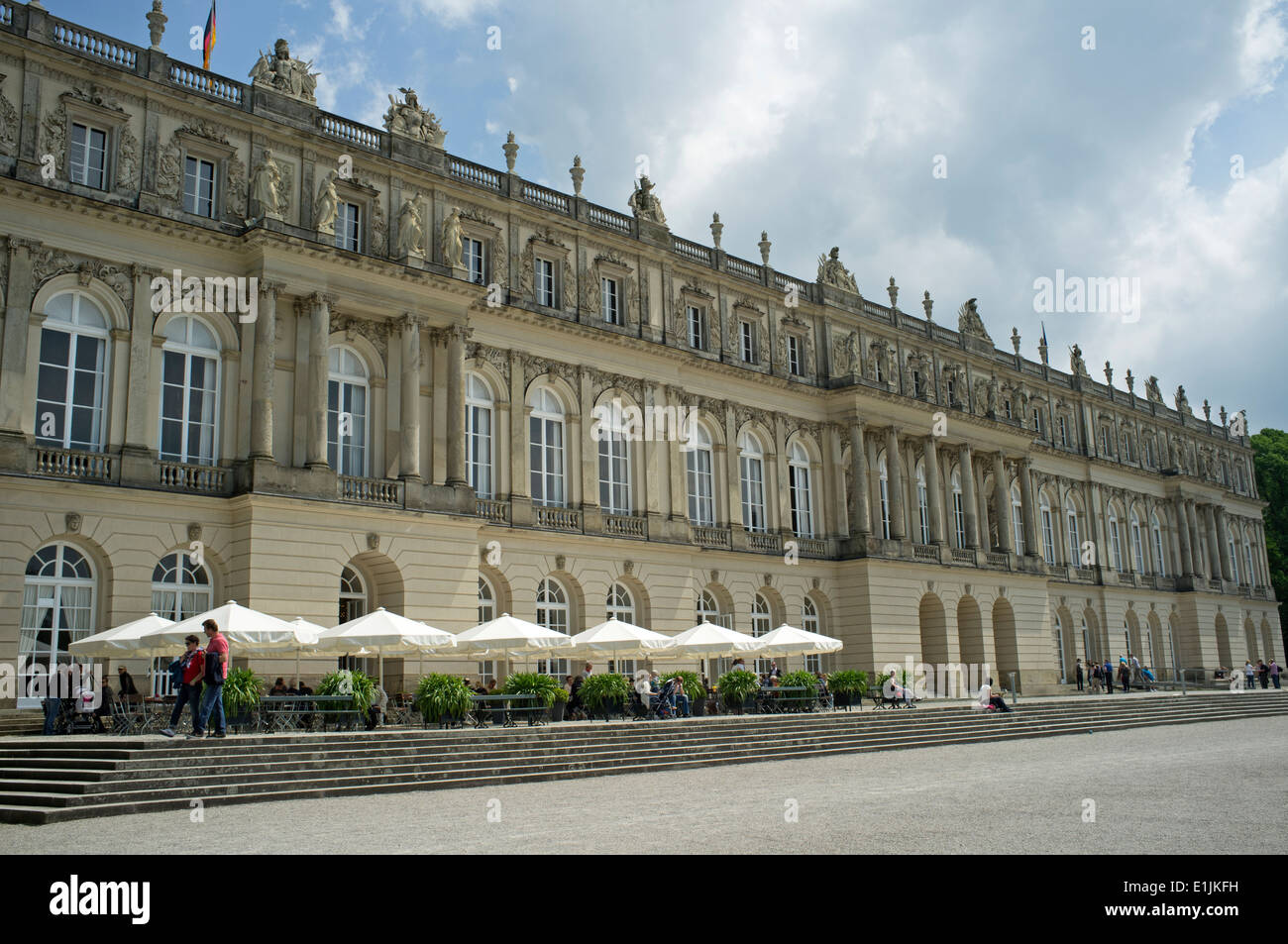 Herrenchiemsee royal palace, Herreninsel, Chiemsee, Bavaria, Germany. - Stock Image