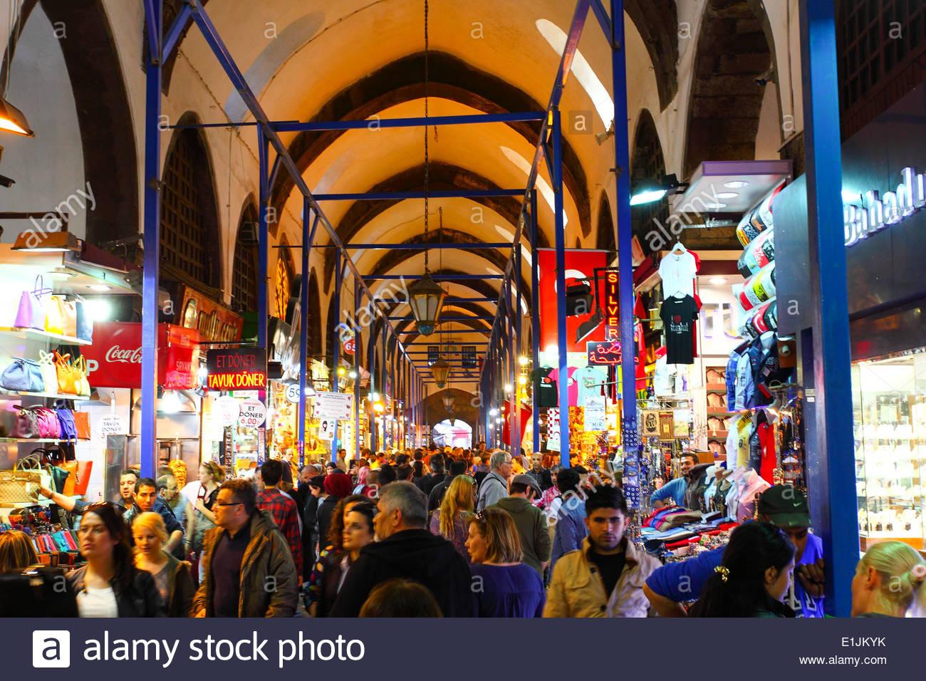 The Spice Bazaar (Turkish: Mısır Çarşısı ) AKA Egyptian Bazaar in Istanbul, Turkey - Stock Image