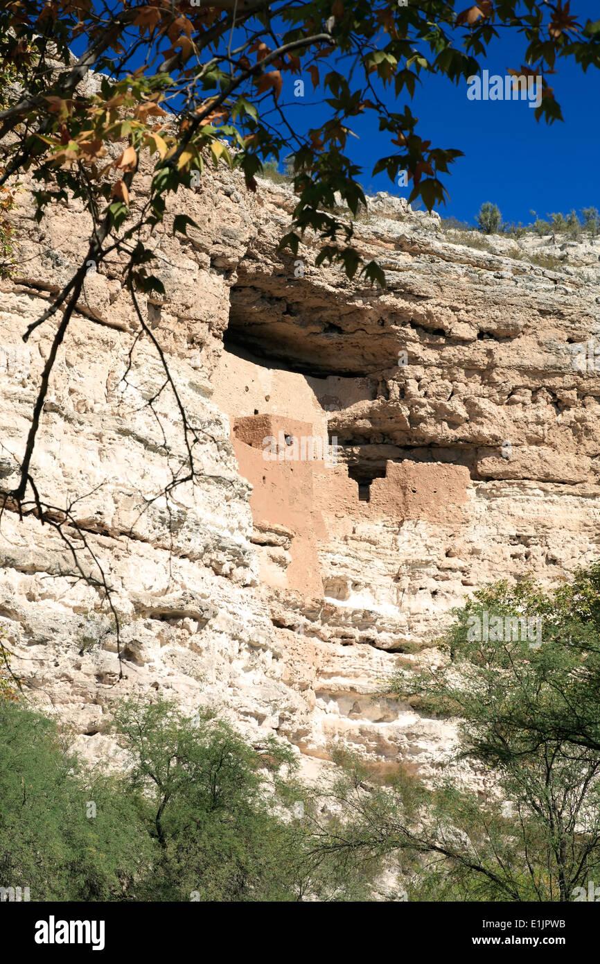 Montezuma Castle cliff dwelling, Montezuma Castle National Monument, Arizona USA Stock Photo