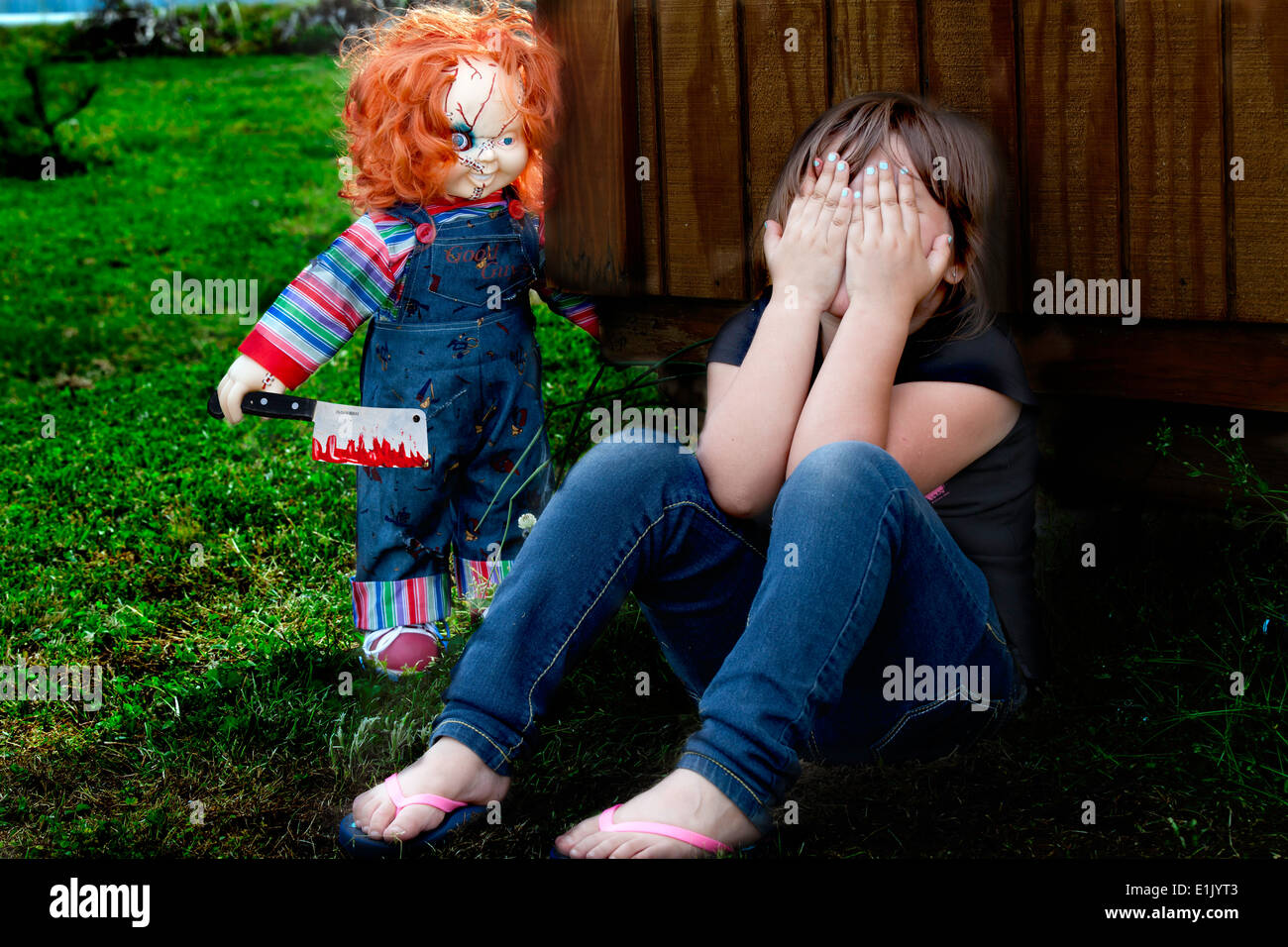 chucky and little girl stock photo 69873107 alamy