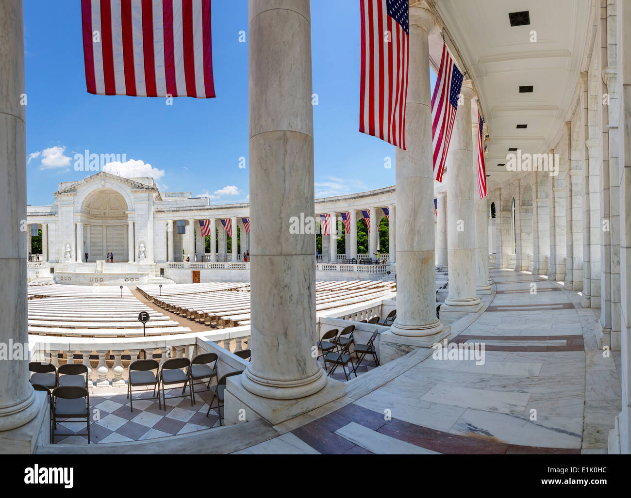 The Amphitheater at Arlington National Cemetery near Washington DC, Arlington, Virginia, USA - Stock Image