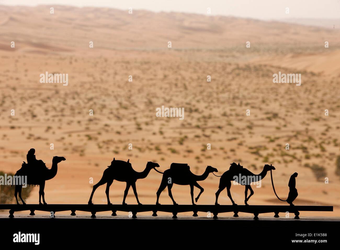Miniature camel motif - Stock Image