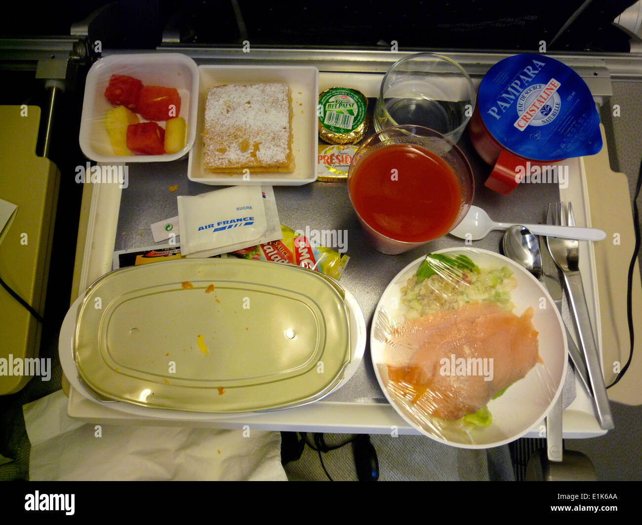 Plane meal - Stock Image