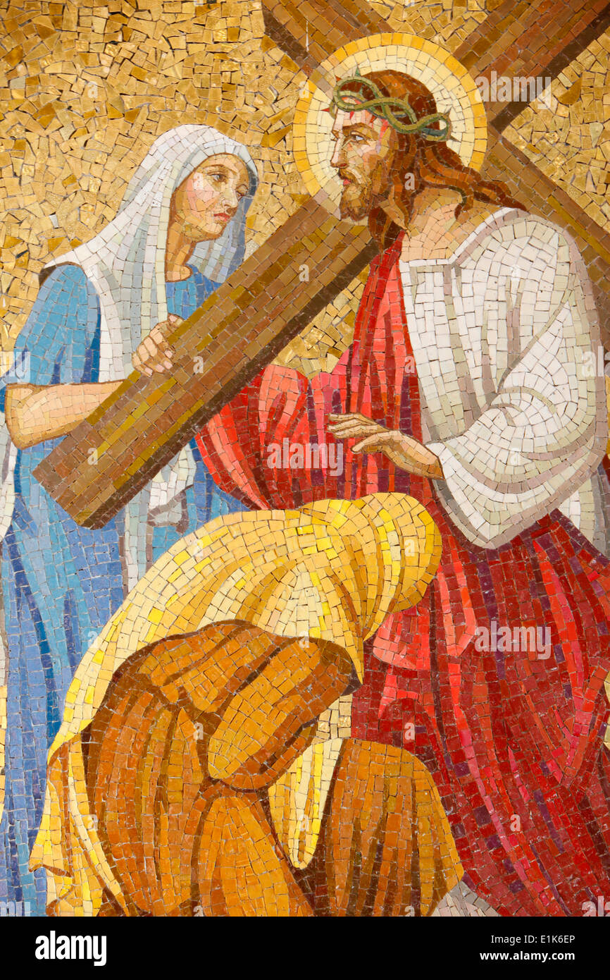 Sacred Heart Church. Passion of Jesus Christ. - Stock Image
